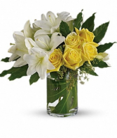 Lilies and roses  Vase