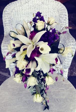 Lilies, Callas, Roses & Tulips Cascade Design