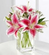 JB 6-Lilies in a compact arrangement (Also available in other colors)