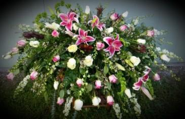Lilies of the heart Casket top