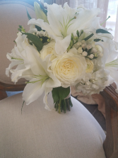 Lilies of White Bridal Bouquet