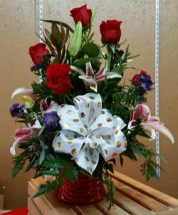 Lilies, Roses & Polka Dots  Roses