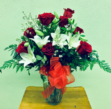 Lilies & Roses Vase