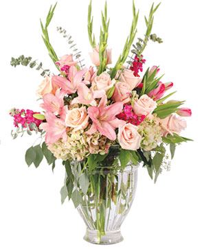 Lilies with Grace Flower Arrangement in Ozone Park, NY | Heavenly Florist