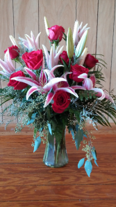 Lily and Rose Beauty Vase Arrangement