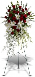 Lily And Rose Tribute Spray T226-1A