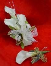 Lily Corsage and Boutonnière-1B & 1C