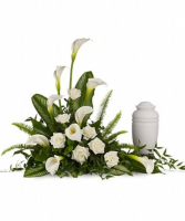 Lily Cremation Tribute Cremation  Flowers (urn not included)