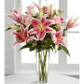 Lily Delight Floral Vase