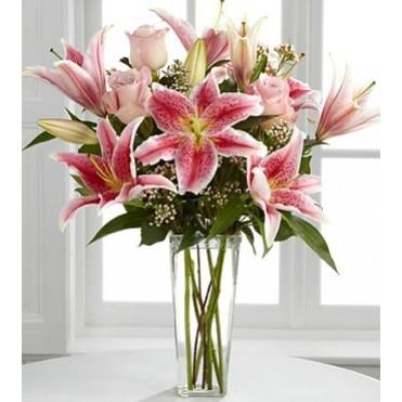 Lily Delight Floral Vase