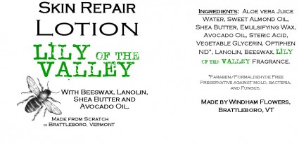 LILY of the VALLEY Made from Scratch Hand Lotion Our own luxurious shea butter, beeswax and lanolin hand lotion !