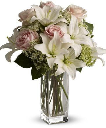 Lily Rose Arrangement Vase Arrangement