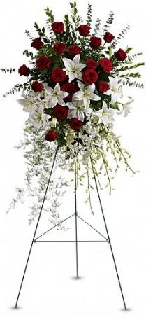 Lily & Rose Tribute Spray in New Port Richey, FL | FLOWERS TODAY FLORIST