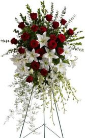 Lily & Rose Tribute Standing Spray SY176