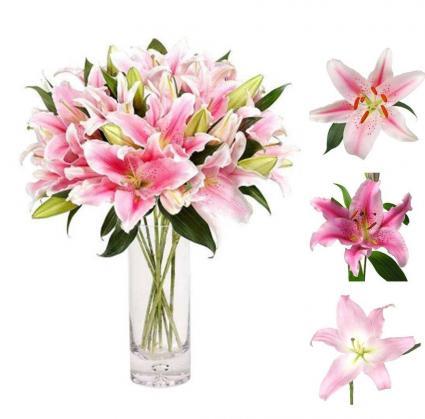 Simply Lilies in a Vase Vase Arrangement