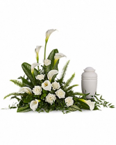 Tranquil Lily Urn Cremation Arrangement