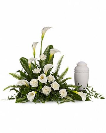 Tranquil Lily Urn Cremation Arrangement