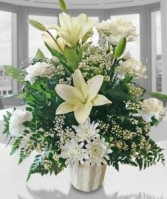 Lily White Sympathy Arrangement