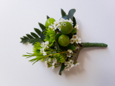 Lime Green Boutonniere