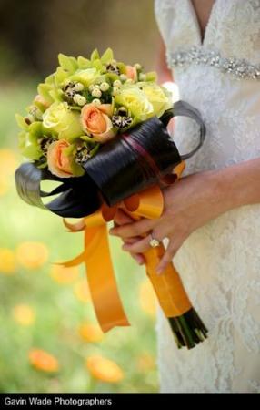 Lime Green & Orange Bouquet