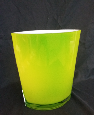 Lime Green Glass Vase