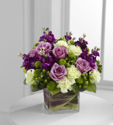 lime purple cube arrangement