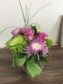 Lime twist Vase arrangement