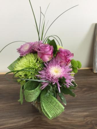 Lime twist Vase arrangement