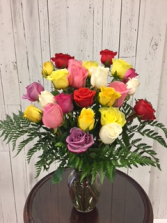 Limited Time 24 Mix color Roses arrangement Roses