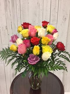 Limited Time 24 Mix color Roses arrangement Roses