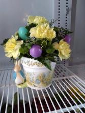 Limited Easter Arrangement..Colors May Vary..Desig Easter Container