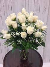 Limited Time 24 White Roses arrangement Roses