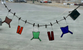 """Line of Clothes"" - Locally Made  Stained Glass Suncatcher"