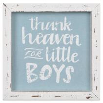 Linen Sign Thank Heaven for Little Boys