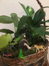 Lion king planter Planter with mini animals