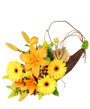 Lion's Harvest Cornucopia in Potomac, MD | Ariel Potomac Florist and Gift Baskets