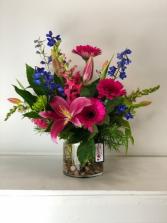 Lipstick Pink Flower Arrangement