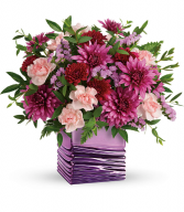 Liquid Lavender Bouquet Vase Arrangement