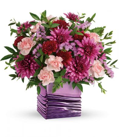 Liquid Lavender Bouquet Vase Arrangement
