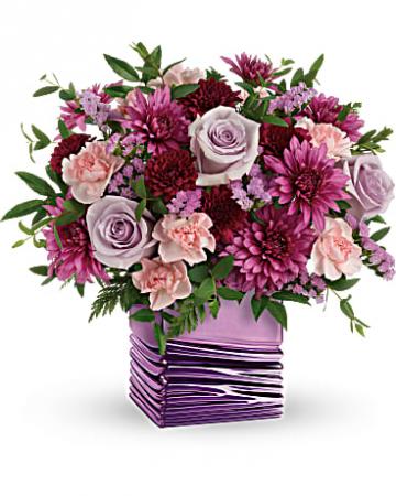 Liquid Lavender Cube Arrangement