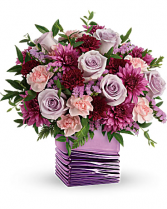 Liquid Lavender Vase Arrangement