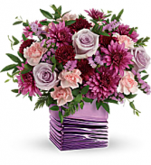 Liquid Lavender with roses vase