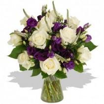 Lisianthus & Roses