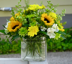Little Bit Of Summer Cube Vase Arrangement in Montgomery, NY | MONTGOMERY FLORIST