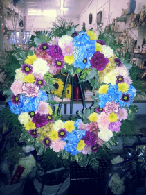 Little blue for you  Standing Wreath