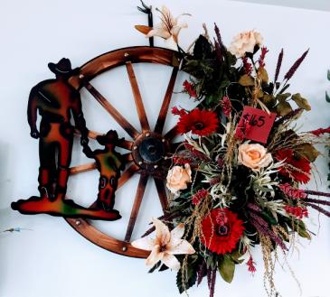 Little Cowboy Custom Made Silk Wreaths