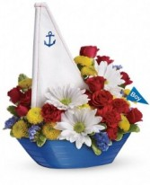 Exclusively at Flowers Today Little Dream Boat Ceramic Keepsake
