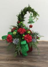 """Little Grinch"" Christmas arrangement"