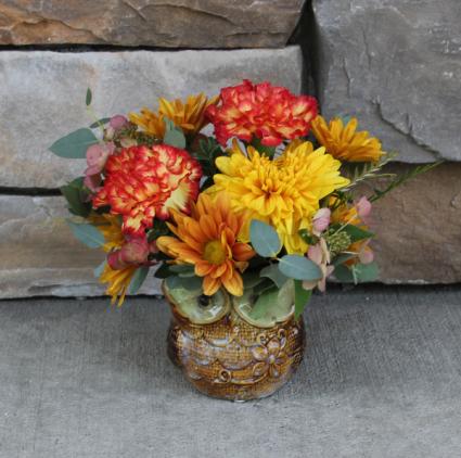 Little Hoots Fall Flower Arrangement