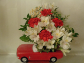Little Red Sports Car Arrangement (local delivery only)